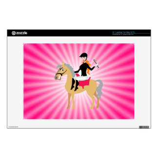 "Pink Equestrian Girl 13"" Laptop Decals"