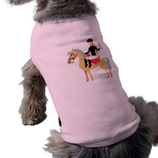 Pink Equestrian Girl Dog Clothing