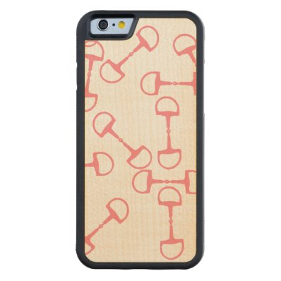 Pink Equestrian Horse Bits Carved® Maple iPhone 6 Bumper Case