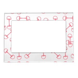 Pink Equestrian Horse Bits Magnetic Photo Frame
