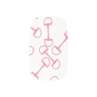 Pink Equestrian Horse Bits Minx® Nail Wraps