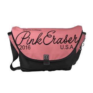 Pink Eraser Messenger Bag/Diaper Bag