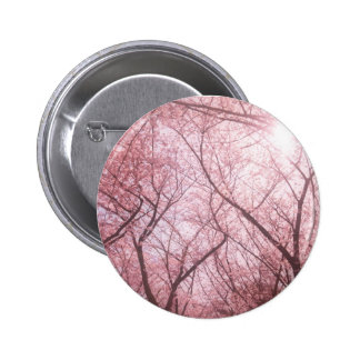 Pink Ethereal Cherry Blossom Tree Button