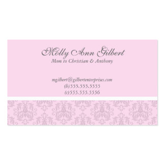 Pink European Elegance Mommy Cards Double-Sided Standard Business Cards (Pack Of 100)