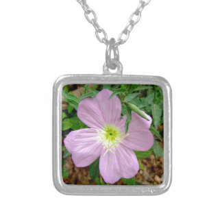 Pink evening primrose wild flower pendants