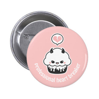 Pink Evil Cupcake Button
