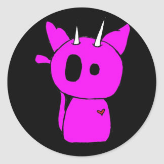 Pink Evil Kitty Stickers