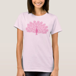 Pink Evil Peacock T-Shirt