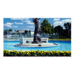 Pink Exhibition Place statue, Toronto, Ontario flo Business Card