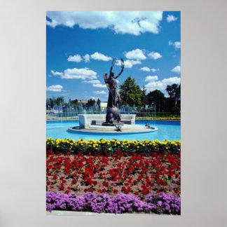 Pink Exhibition Place statue, Toronto, Ontario flo Poster