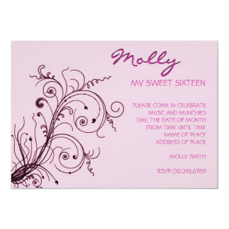 Pink Explosion 5x7 Paper Invitation Card