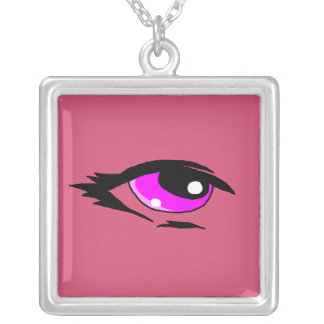 Pink eye design matching jewelry set