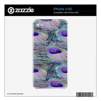 pink eye peacock feathers iPhone 4S decal
