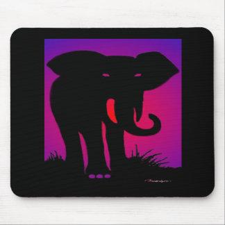 Pink Eyed Elephant Mouse Pad