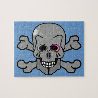 Pink eyed Jolly Rodger Jigsaw Puzzle