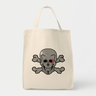 Pink eyed Jolly Rodger Tote Bag