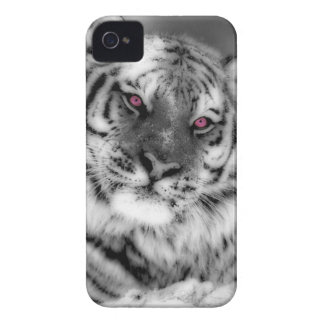 Pink Eyed Tiger iPhone 4 Cover