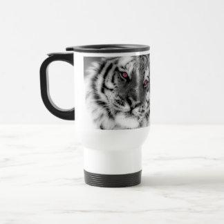 Pink Eyed Tiger Travel Mug