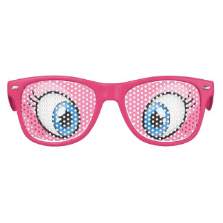 Pink Eyes Cartoon Girl's Party Costume Glasses