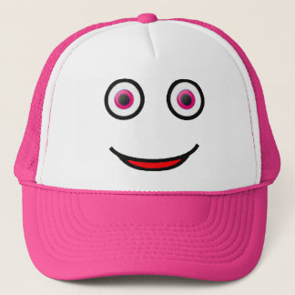 Pink Eyes Happy Smiley Face Trucker Hat