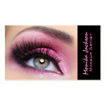 Pink eyeshadow long lashes eyemakeup artist Double-Sided standard business cards (Pack of 100)