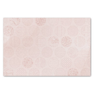 "Pink Fabric Circles 10"" X 15"" Tissue Paper"
