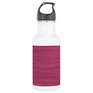 Pink fabric texture water bottle