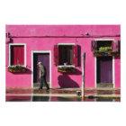 Pink Facade, Burano Islands Photo Print