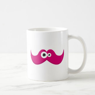Pink facetache - The moustache with a face Coffee Mug