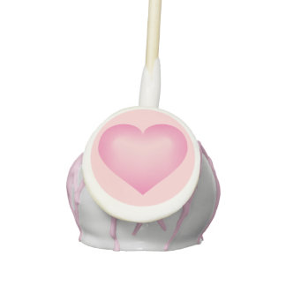 Pink fade heart cake pops