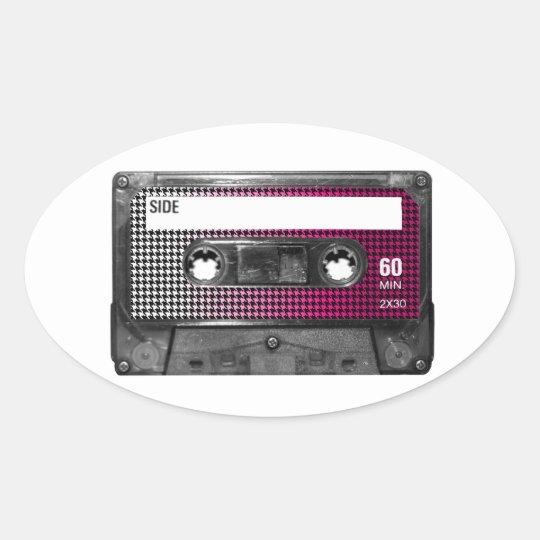 Pink Fade Houndstooth Label Cassette