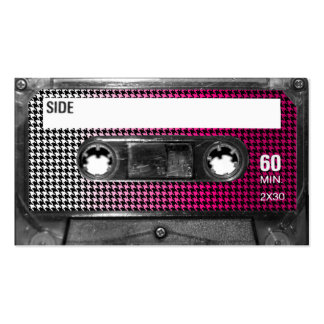 Pink Fade Houndstooth Label Cassette Double-Sided Standard Business Cards (Pack Of 100)