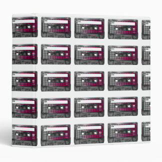 Pink Fade Label Houndstooth Cassette 3 Ring Binders