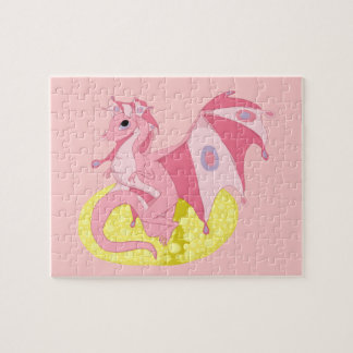 Pink Fae Dragon Hatchling Jigsaw Puzzle