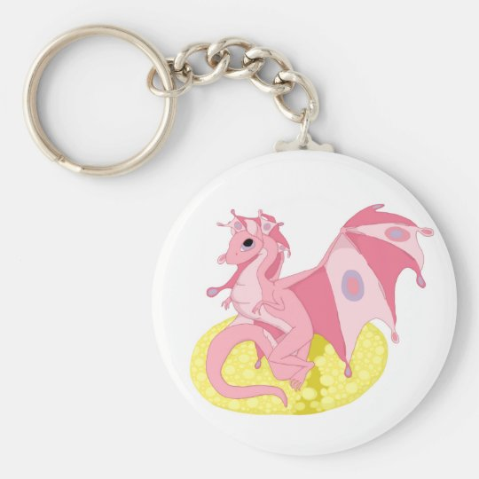 Pink Fae Dragon Hatchling Keychain
