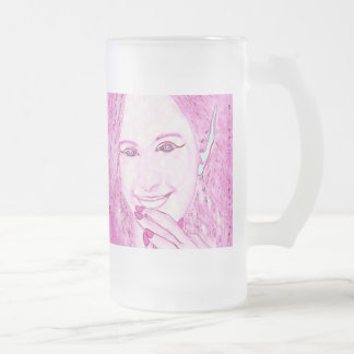 Pink Faeries Are Magical Friends Glass Mug