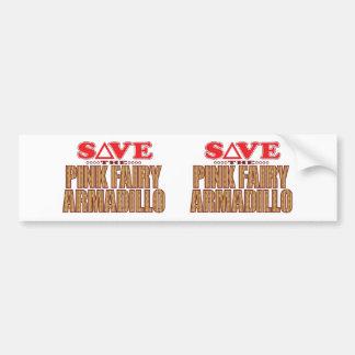 Pink Fairy Armadillo Save Bumper Sticker