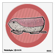 Pink Fairy Armadillo Wall Decal