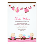 Pink Fairy Baby Shower 5x7 Paper Invitation Card