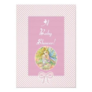 Pink Fairy Baby Shower Invitations