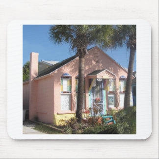 Pink Fairy Beach Cottage Mouse Pad