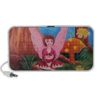 Pink Fairy beside orange mushroom iPhone Speaker