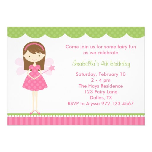 Fairy Birthday Invitations and get inspiration to create nice invitation ideas