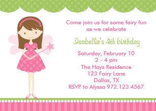 Pink princess fairy invitations announcements zazzle pink fairy birthday party invitations filmwisefo
