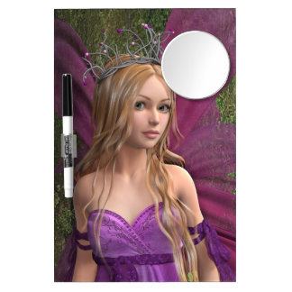 Pink Fairy Dry Erase Board With Mirror