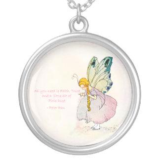Pink Fairy Dust Vintage Victorian Faerie Necklace