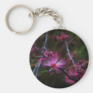 pink fairy duster keychain