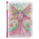 Pink Fairy Fantasy Art Kindle Case