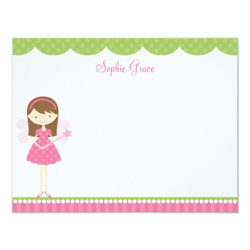 Pink Fairy Flat Note Card