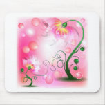 Pink Fairy flowers products Mousepad